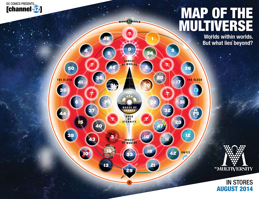 Map of the DC Multiverse