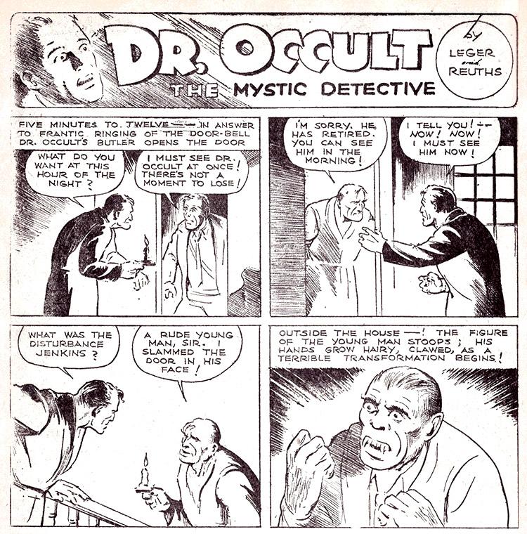 Resultado de imagem para doctor occult 1933 comics